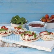 Hurtige mini pizza pita