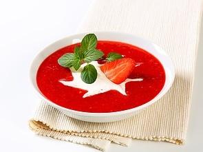Kold jordbærsuppe