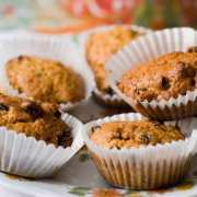 Pære-mazarin muffins uden mel og sukker