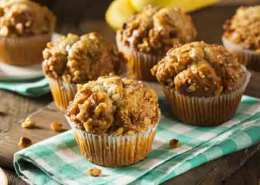 Æble og nødde muffins