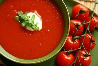 Tomatsuppe, den hurtige