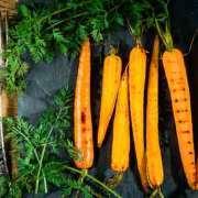 Nye gulerødder med citron og sesamdressing