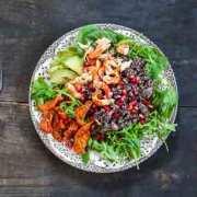 Quinoasalat med rejer