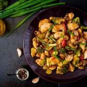 Wok med kylling og ingefær
