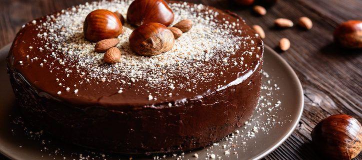 Kastanjekage med chokolade