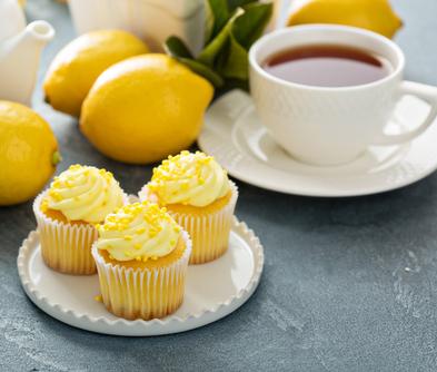 Citronmuffins med syrlig glasur