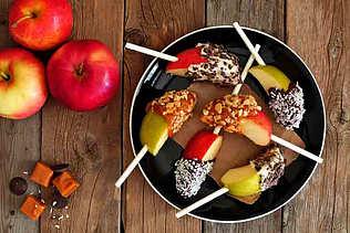 Æbler med dip og knas