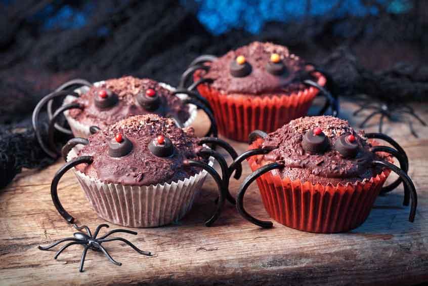 Halloween chokolademuffins