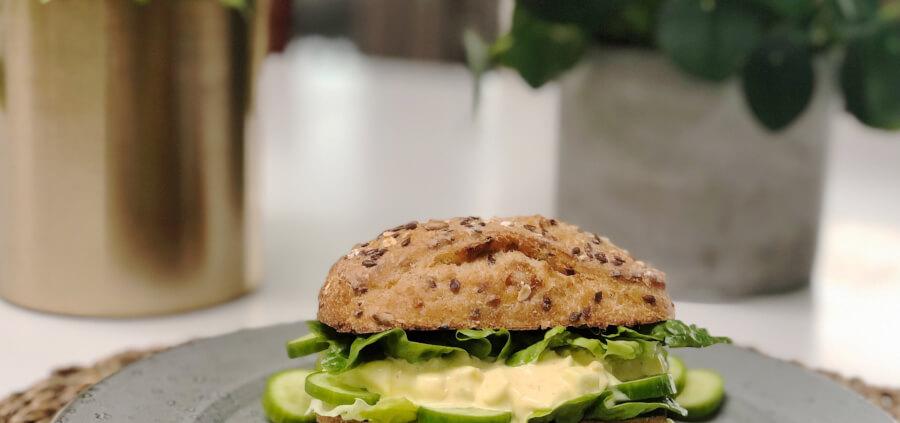 Sandwich med æggesalat. Opskrift på verdens bedste sandwich.