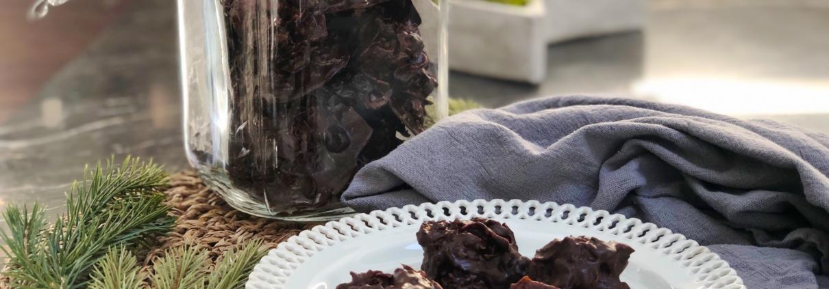 Cornflakes kager, lækker opskrift på knasende søde ckoloadekager.