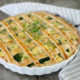 Cremet italiensk påske tærte med broccoli og skinke