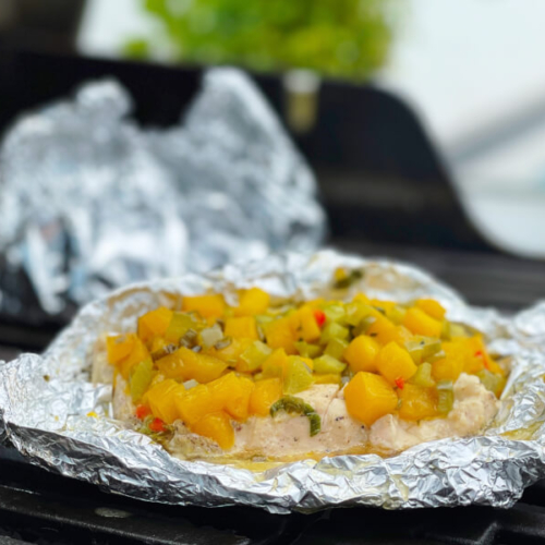 Asianstyle kyllingebryst på grill